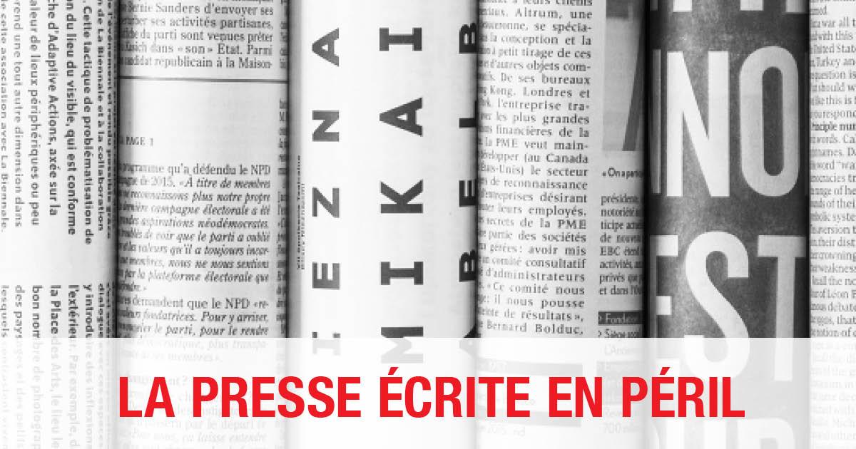 Fermeture de journaux au Canada: la FNC-CSN revient à la charge